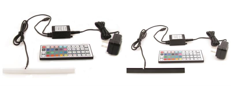 "Powered RGB LED Light  Strips for 3/16"" Panel"